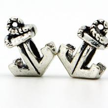 European DIY Silver Anchor Bead Fit Pandora Bracelets Bangles New Fashion 1Pcs Silver Bead Charm