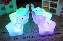 2015 Hot 2x Elephant Shape Color Changing LED Night Light Lamp Wedding Party Decor New(China (Mainland))