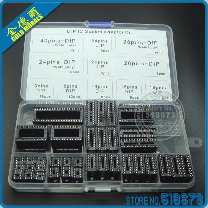 Интегральная микросхема Standard 95pcs/6, 8, 14, 16, 18, 20, 24, 28 IC DIP IC sockets