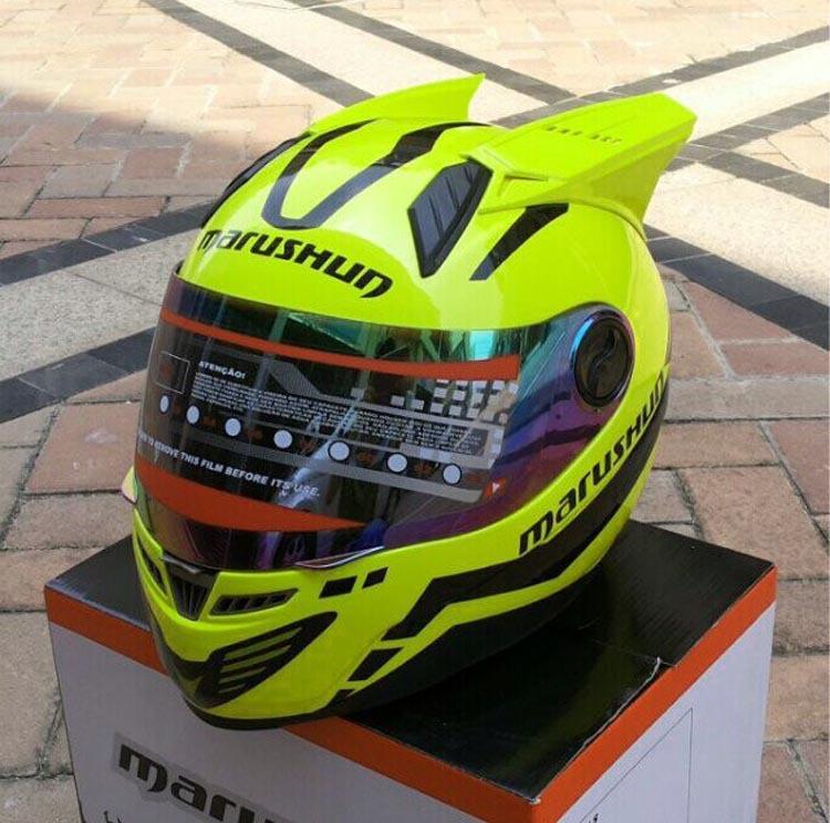 Motorcycle Helmets Horns Marushin Helmet 999 Horns