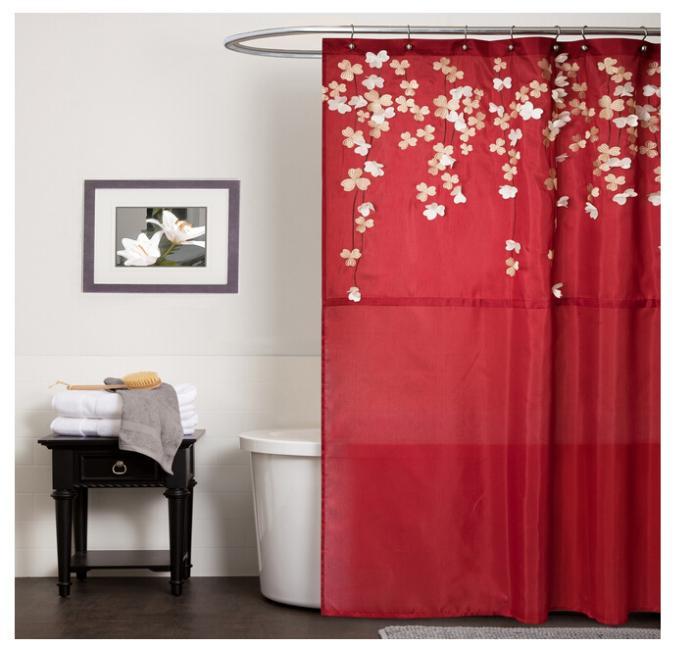 Cortinas De Baño Por Mayor:de baño rojo online al por mayor de China, Mayoristas de cortinas de
