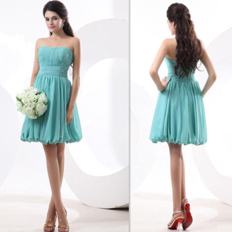 Vestidos De Baño Verde Menta:Cheap verde menta dama De honor vestidos cortos Summer Beach Vestido