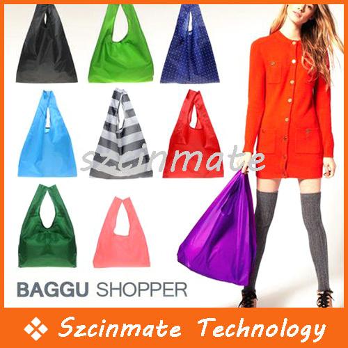 Fashion Foldable Waterproof Storage Eco Reusable Shopping Tote Bags 200pcs/lot Wholesale(China (Mainland))