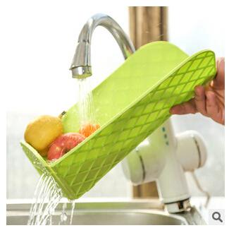 HOT SAL!!!!Multifunctional kitchen cutting board antibacterial cutting board foldable, multi combo wash basket(China (Mainland))