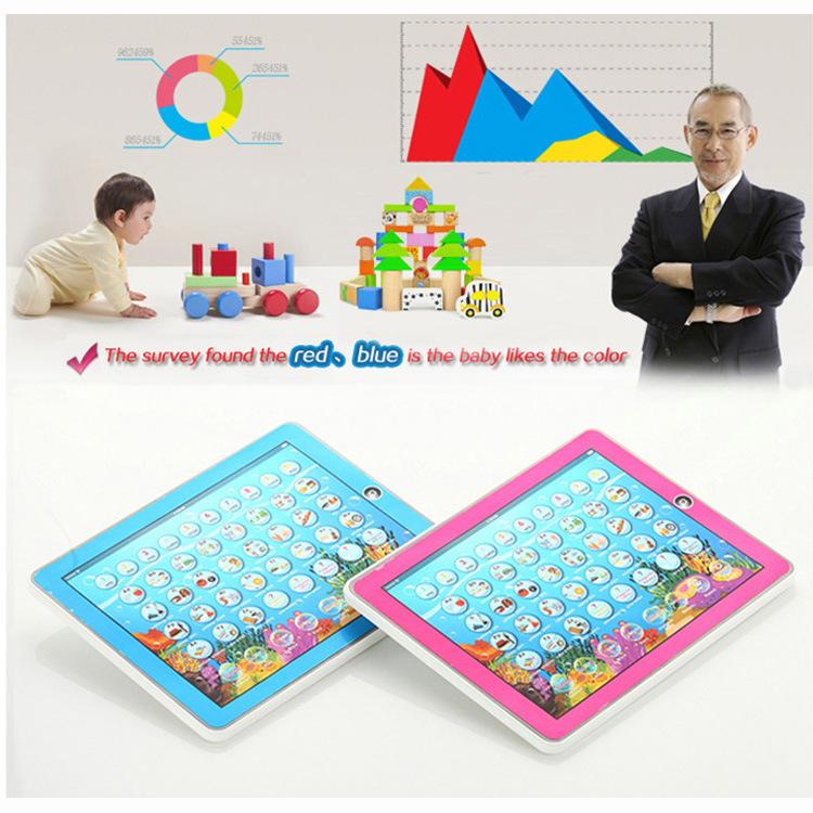 10pcs/lot 2D English Spanish Language ipad Ypad y pad Tablet Table of the Computer funny farm Learning Machine(China (Mainland))