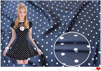 Twill fabric silk twill fabric black and white dots Shuiyu Polka Dot Dress Shirt feed(China (Mainland))