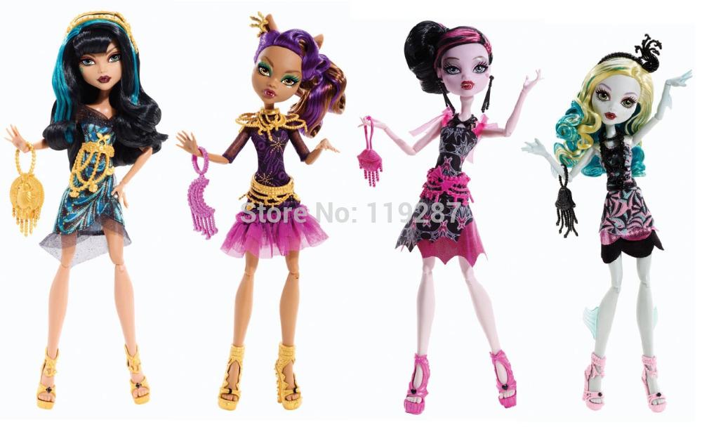 Original brand School High dolls,black carpet, CLEO De NILE,Lagoona Blue,CLAWDEEN WOLF,DRACULAURA, classic toys gift for girl(China (Mainland))