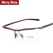 2015 New Men Optical Frames Eyeglasses Frames Rack Commercial Glasses Fashion Eyeglasses Frame Myopia Titanium Frame TR90 Legs