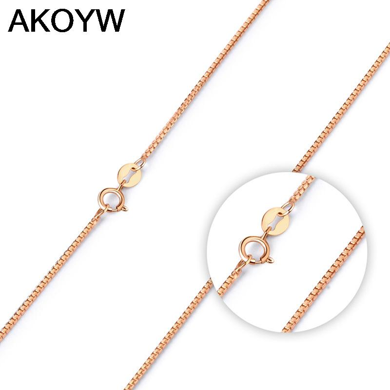 S925 sterling silver jewelry fashion wild tide rose gold pendant box chain minimalist retro accessories wholesale(China (Mainland))