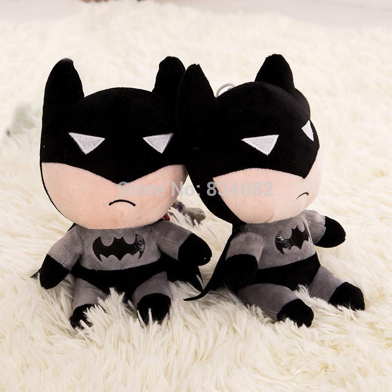 J.G Chen Free Shipping 1pcs 18CM 2015 New Cartoon Batman Doll Plush Toys The Dark Knight Cute Version Action Figure(China (Mainland))