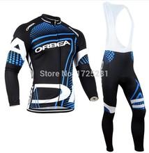 2014 ORBEA Sportswear Ropa Ciclismo Bici MTB Bicycle Wear Bicicletas Clothing Cycling Jersey Long sleeve bib pants sets(China (Mainland))
