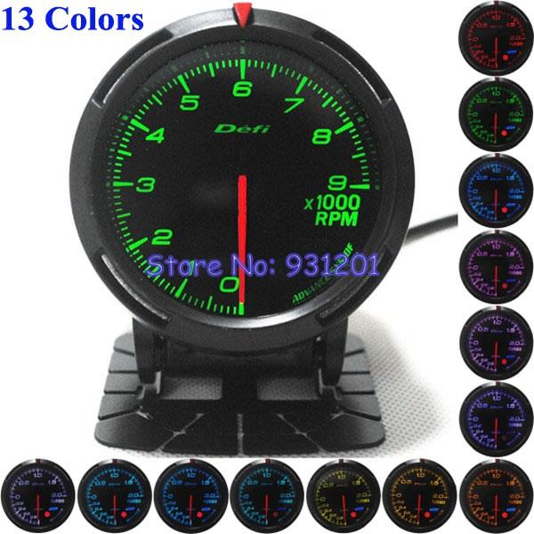 13 Colors 60MM DEFI Tachometer / Racing Car RPM Tachometer Meter Gauge()