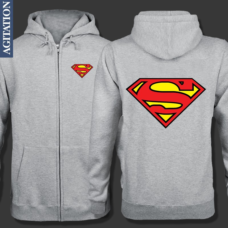 FREE SHIPPING Original Design Superman Clark Kent Print DC Justice League Man Of Steel Casual Fleece Hoody Hoodies Sweatshirts(China (Mainland))