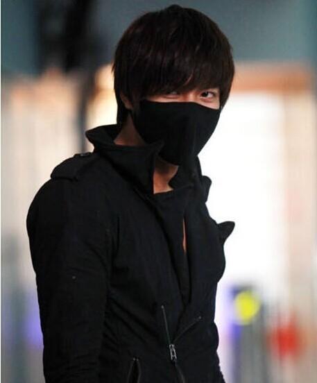 Black Activated Carbon Cotton Masks Surgical Windproof Anti Dust Men Masks Flu Face masks(China (Mainland))