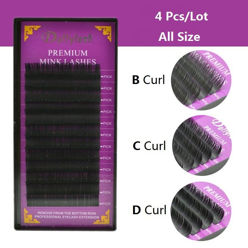 All Size B C D Curl Individual Mink Eyelash Extension Soft Black Fake False Eye Lashes9-14mm Makeup Toool Freeshipping(China (Mainland))
