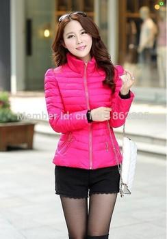 2015 новый зимнее пальто женщин большой размер женщин хлопка корейский мода мягкий воротник тонкий пуховик