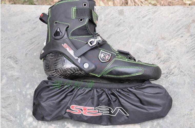 4 Wheels Seba roller waterproof nylon shoe bag shoes cover roller tool holder shoes cover wheels set good quality,Free shipping!(China (Mainland))
