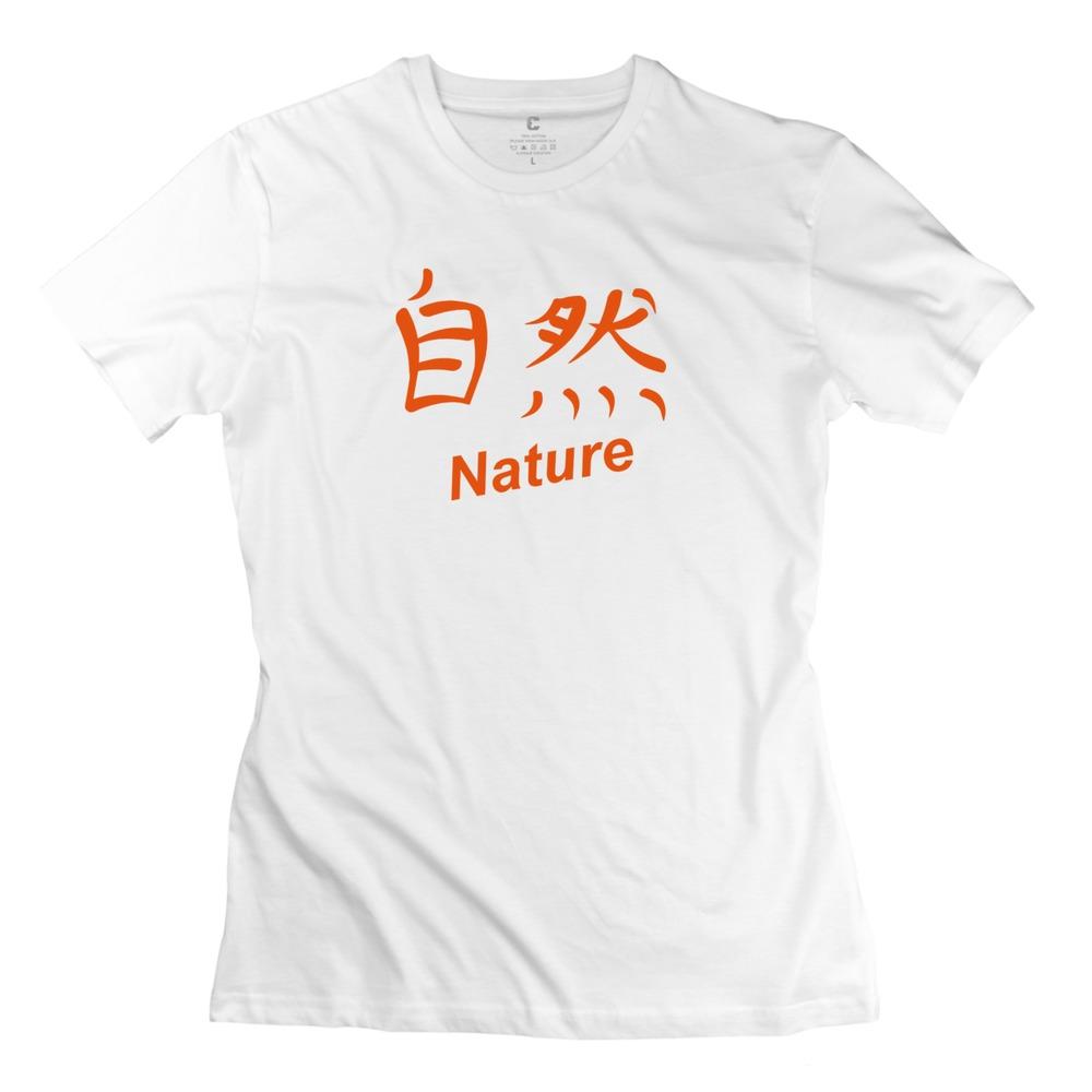 Promotion Women Latest tshirt kanji - nature Slim Fit Pre-cotton t shirts For Ladies(China (Mainland))