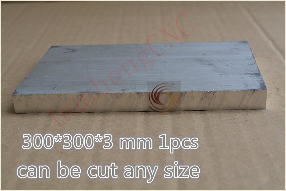1pcs 300 mm* 300 mm* 3 mm pure aluminum plate metal aluminum sheet 6061 diy cnc part intelligent robot model board(China (Mainland))