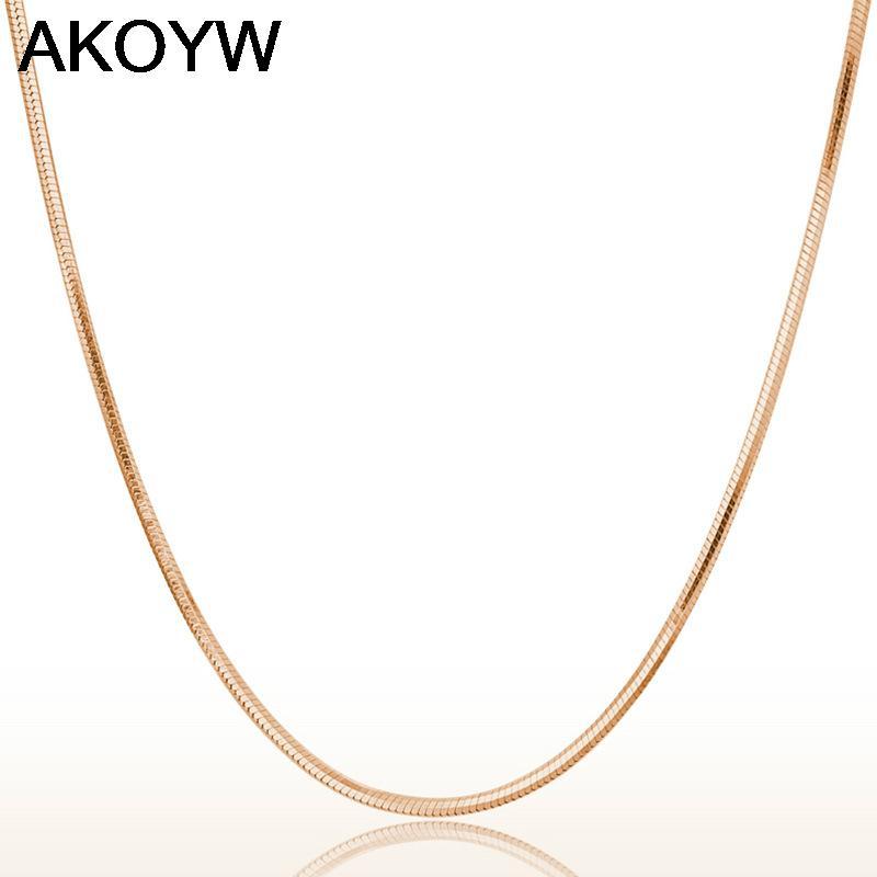 Колье-цепь AKOYW S925 .2mm