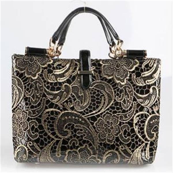 2015 genuine leather women handbag new style shoulder bag famous brand lace women messenger bag fashion tote top handle bag(China (Mainland))