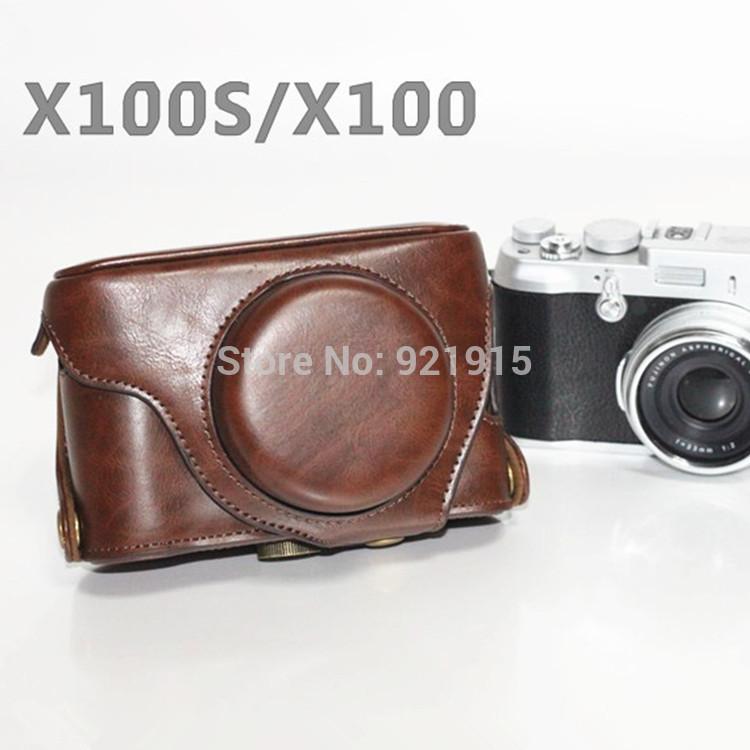 NEW Fuji Fujifilm X100s/X100 X100T bag classic detachable type special case bag Dark Brown(China (Mainland))