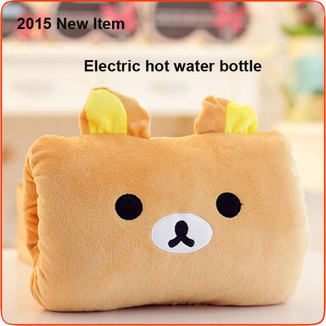 Grátis frete 2015 elétrica água quente carga quente tesouro garrafa de água quente elétrica tesouro de pelúcia intervir bebê aquecido cor(China (Mainland))