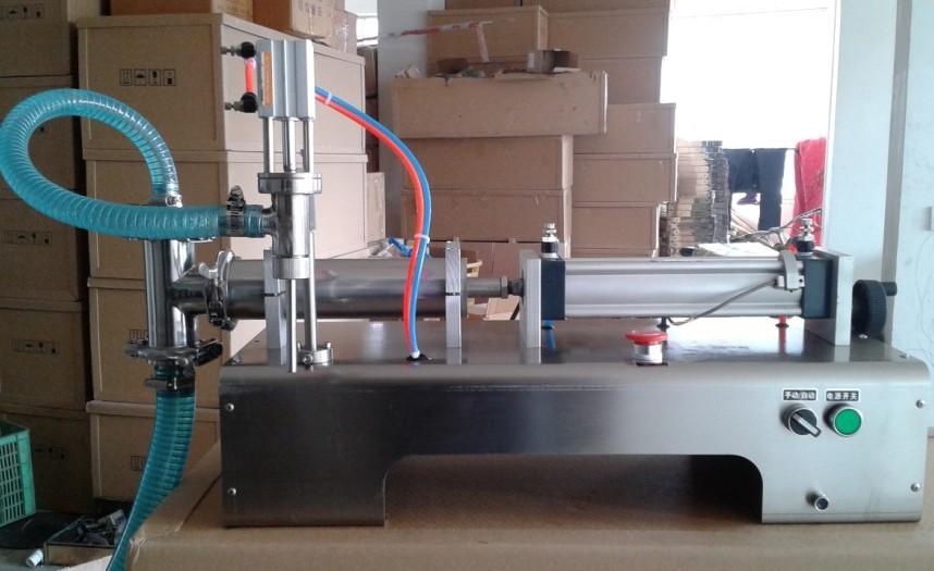 semi auto milk bottle filling machine pneumatic glass bottle filling machine for juice water oil beverage etc with 100-1000ml(China (Mainland))