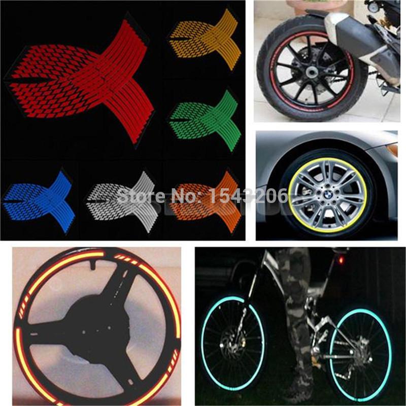 自転車の 自転車 リム ステッカー : Motorcycle Reflective Rim Tape