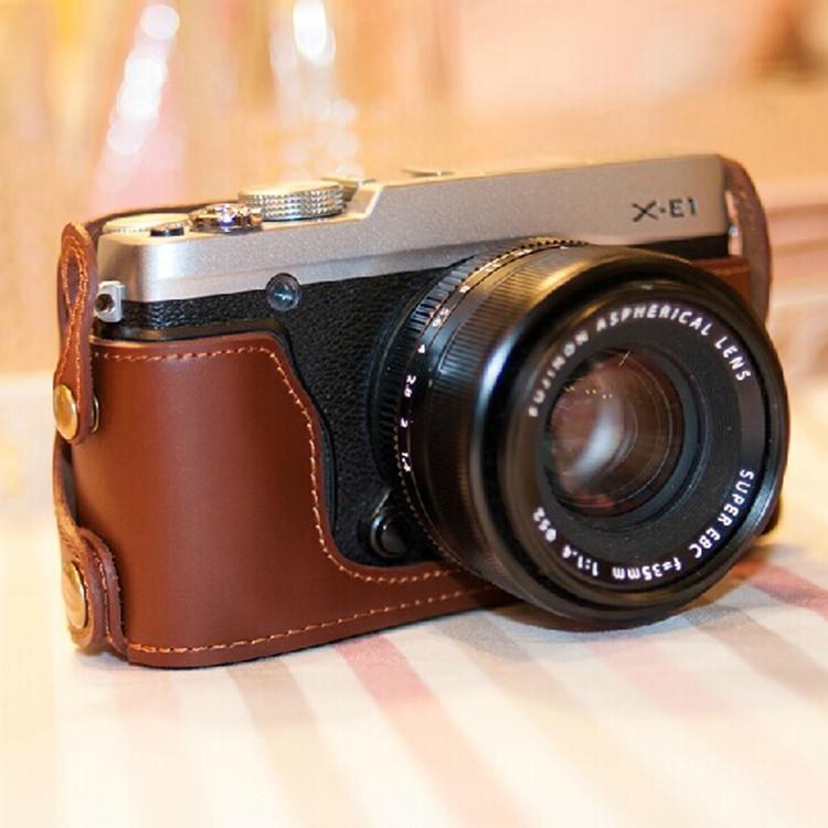 2015 new Genuine Leather Camera case bag bottom case for Fujifilm Fuji X-E1 X-E2 XE1 XE2(China (Mainland))