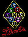 """Dr. Neon Awesome Neon Sign strohs Billiards Poll balls games beer hobby Bar Custom Neon Signs Pub art Light lamp 19""""X15""""(China (Mainland))"""