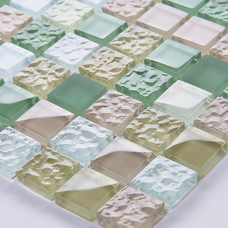 Online kopen wholesale gekleurde glazen tegel uit china gekleurde glazen tegel groothandel - Deco douche tegel ...