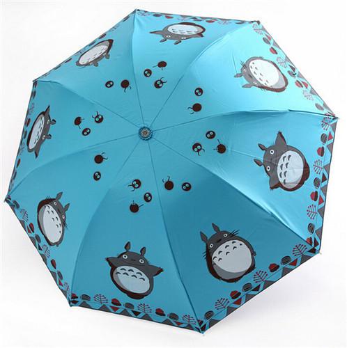 Free shipping super cute sun umbrellas Hayao Miyazaki Totoro vinyl umbrella UV umbrella cartoon umbrella(China (Mainland))