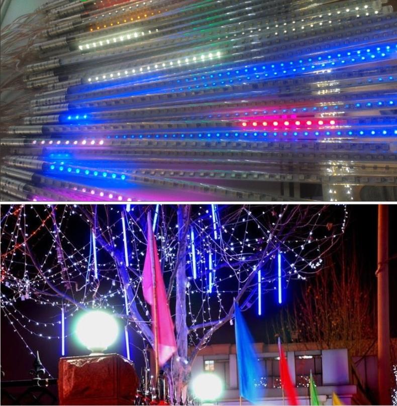 10pcs/set double-sided 30cm 0.3m 36LEDs/tube LED Meteor Rain Light LED Snow fall tube snowing led meteor tube 5 set(China (Mainland))