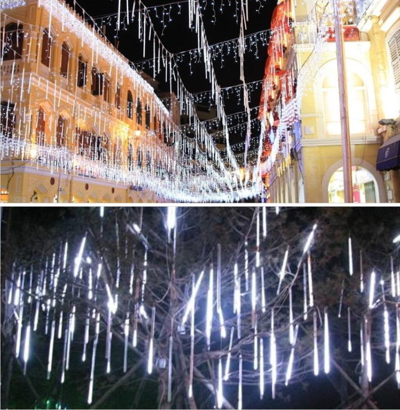 10pcs/set led meteor lighting 12v dc 10pcs/set double-sided 30cm 0.3m 36LEDs/tube led Rain Light LED Snow fall tube 10set(China (Mainland))