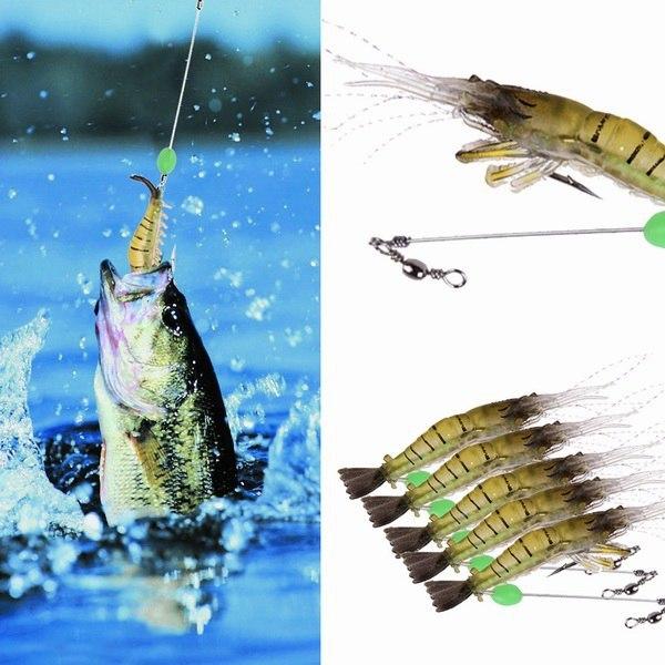 5PCS Luminous Soft Lures ISCA Artificial Shrimp Lures/Hooks Wlures Soft Baits Soft Fishing Lures Fishing Baits 10CM 7G(China (Mainland))