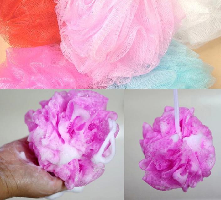 Loofah Flower Bath Ball Bath Tubs Cool Ball Bath Towel Scrubber Body Cleaning Mesh Shower Wash Sponge(China (Mainland))