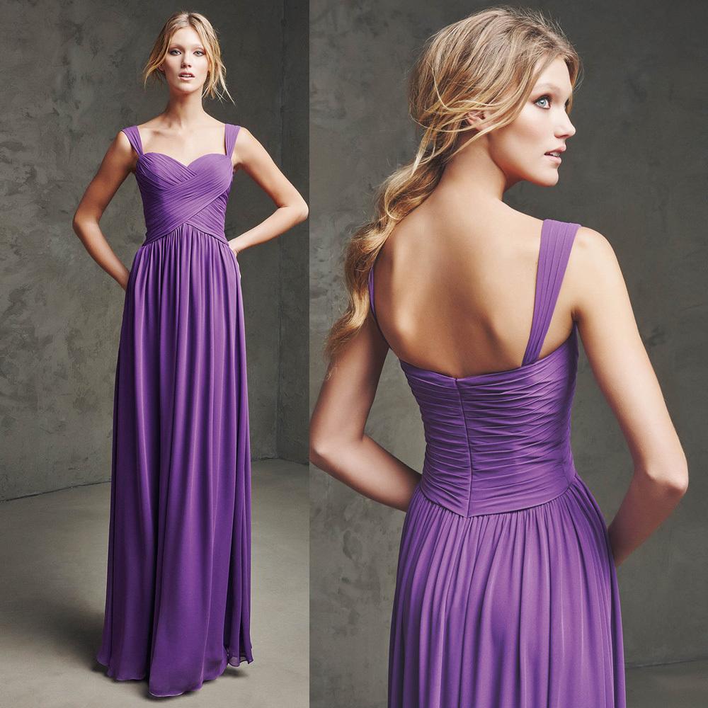 Vestidos de dama de honor púrpura | Cuadros