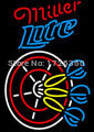 """Dr. Neon Awesome Neon Sign Darts Miller hobby games Bar Custom beer Neon Signs Pub art Light lamp 19""""X15""""(China (Mainland))"""