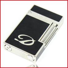 Hot sales dupont cigarette lighter gold Pure Copper Butane Gas Cigarette antique lighters Bright Sound or Men Father as Gift