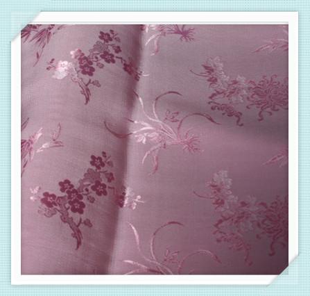 Fragrant silk crepe dress upscale Chinese clothing heavy silk fabric pink fabric flower Seasons 1(China (Mainland))