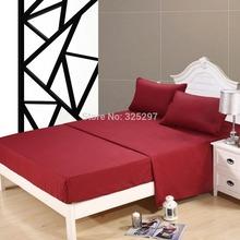4pcs King Size  Homehug Embossed 4Pcs Bed Sheet Set 100% Soft Polyester Burgundy (China (Mainland))