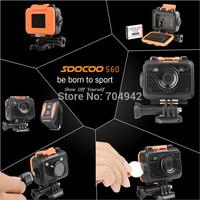 "Original SOOCOO S60 Sports Action Video Camera Waterproof 60m SOS Anti- Shake 170 Degree Wide Angle WiFi 1.5 "" LCD Camera"