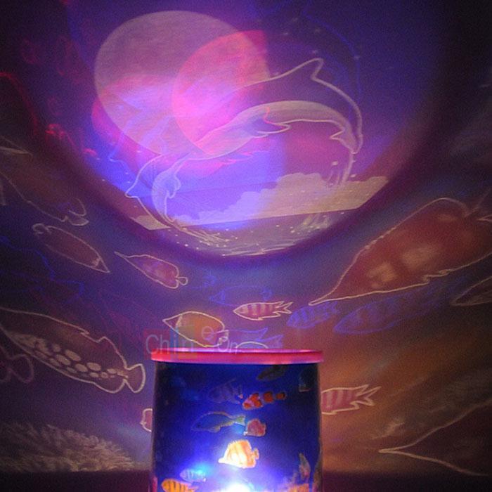 Romantic Ocean Sky Stars Super Bright LED Night Light Projector Lamp Best Gift(China (Mainland))
