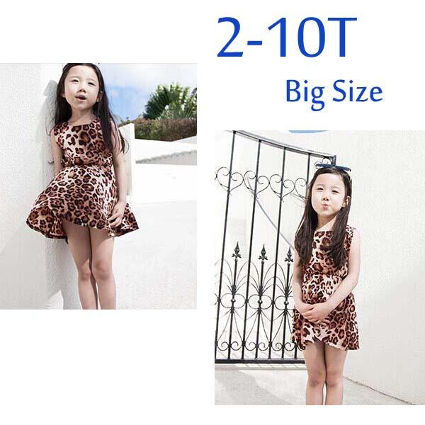 1 pieces retail baby tutu dress summer beach dress baby girl's leopard dress girl's vestidos a006(China (Mainland))
