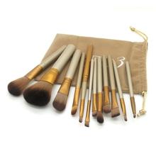 2015 hot sale 12 Pcs new nake 3 makeup brushes,NK3 Brush kit Sets for eyeshadow blusher Cosmetic Brushes Tool 50D