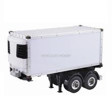 [HERCULES HOBBY] TAMIYA Tractor Truck 20 Foot Reefer Semi-Trailer 2 Axle Model 1/14 Scale Made in China(China (Mainland))