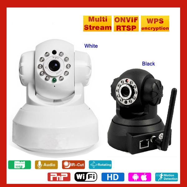 DHL Free shipping Wifi ip camera pnp camera 720p night vision 100M solution ip camera Windows iPhone Android software control(China (Mainland))