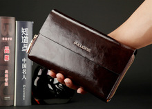Promotion Luxury Limited Edition Big Capacity Split genuine Leather Men Clutch Bag handbags Day Clutches Card holder #VP-P600368