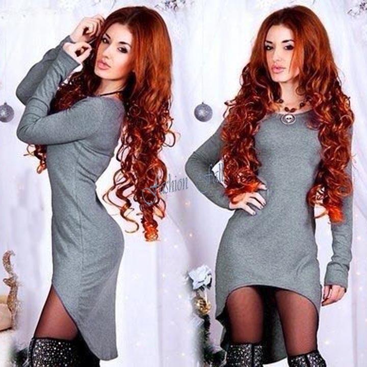 Vestidos Sexy Robe Bodycon Bandage Dress 2015 New Gray Clubwear Slim High Low Dresses Women Swallow Elegant Mini Dress 14948(China (Mainland))